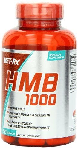 MET-Rx HMB 1000 Supplement, Supports Muscle Recovery, 90 Capsules