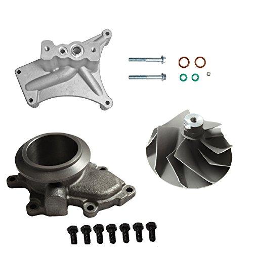 Pedestal Wheel Kit - Upgraded Turbo Pedestal EBP Delete Kit W/Compressor Wheel Fit For 7.3L 99.5-03 Ford Powerstroke Diesel