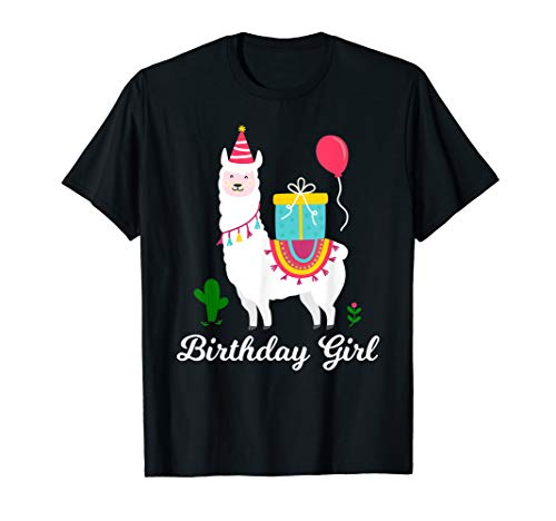 Cool Cute Alpaca Llama Cactus Girls Birthday Animal -