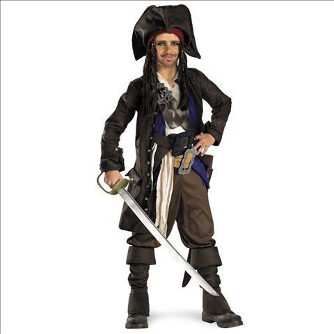 Pirates of the Caribbean 3 Captain Jack Sparrow Costume Medium (7-8) (Jack Sparrow Boys Costume)