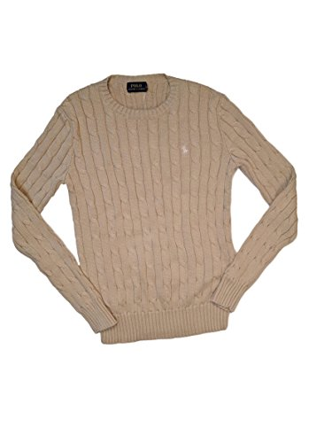 Polo Ralph Lauren Women's Long Sleeve Cable Crewneck Sweater (XS, - Cardigans Sweaters Lauren Ralph Women