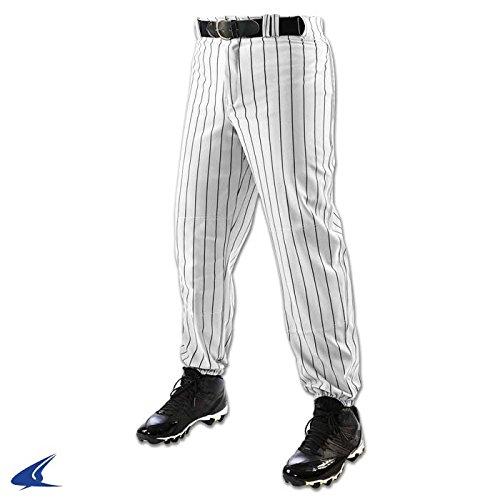CHAMPRO Men's Triple Crown Closer Pinstripe Baseball Pant White/Black Medium