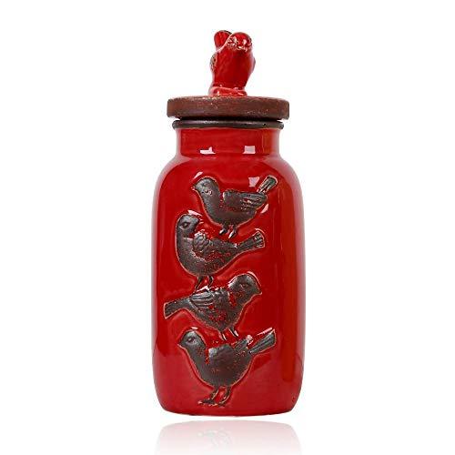 lishirao Ornament,Storage Tank Glaze do Old Crafts Home Ornaments Jewelry 11x11x28cm -