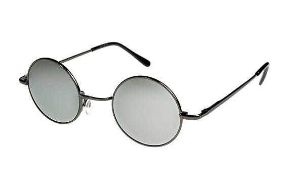 79d44d0fe1 i sunglasses Round John Lennon Style Elite Sunglasses Gunmetal Mirror M