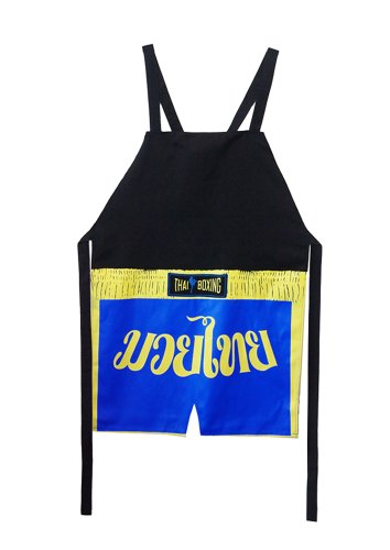 Amazing Muay Thai Cooking Apron From Thailand (Blue) (Grappling Boardshorts)