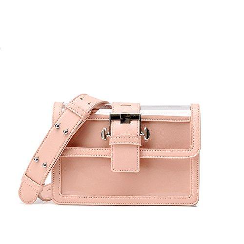 Single Straps With Woman Bag Pink Transparent Skew Straps Shoulder ZEPvIxq