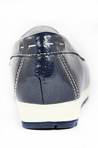 7931 BLU Scarpa donna mocassino Enval soft pelle made in Italy