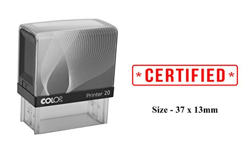 CERTIFIED Print Plastic Stamp Clear Print For Office Use Colop Self-Inking Stamp ()