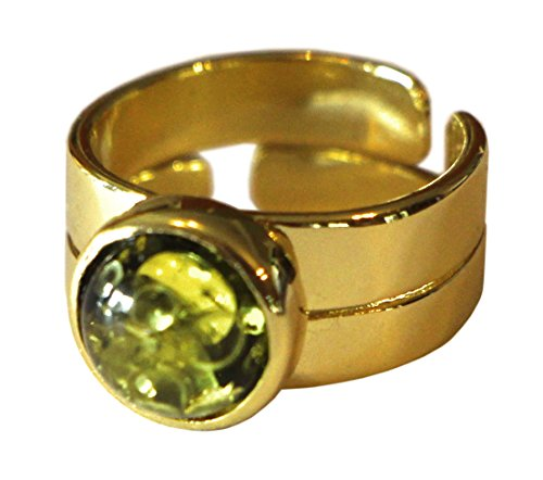 Magnoli Clothiers Doctor Who Style Capaldi Ring Amber Gold Plated Ring