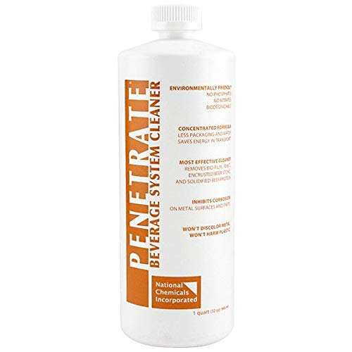 Penetrate Draft Beer Line Cleaning Liquid, 32 Ounces, Case of 12 Bottles