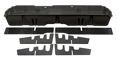 DU-HA Under Seat Storage Fits 07-13 Chevrolet/GMC Silverado/Sierra Light Duty & 07-14 Heavy Duty Crew Cab, Dk Gray, Part #10042 ()
