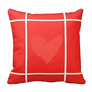 Big Square Decorative Pillows : Amazon.com: Big red love pillowcases lkwu2929 Decorative Cotton Linen Blend Throw Pillow Cover ...