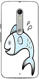 Snoogg Cute Cartoon Fish Vector Designer Protective Back Case Cover For Motor...