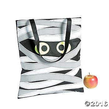 Mummy Tote Bag - Trick or Treat Halloween Candy Carry (Mummy Halloween Treats)