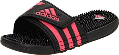 adidas Women's Adissage W Sandal,Black/Fresh Pink/Black,3 C US