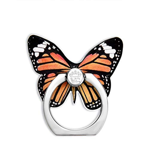 Velvet Caviar Cell Phone Ring Holder - Finger Ring & Stand - Improves Phone Grip Compatible with iPhone, Galaxy and Most Cases (Except Silicone/Leather) - Butterfly