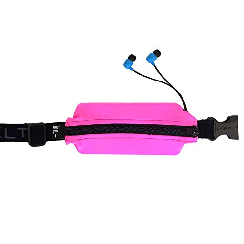 SPIbelt Flex Belt Adult – No-Bounce, Fitness Belt with Pass Through Hole Headphones. Perfect for The Gym or on a Run