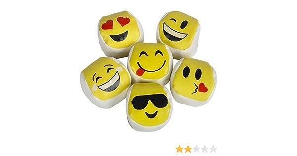 Amazon Com Funex Dozen 12 Emoji Hacky Sacks Kick Balls Pack Of 12 Foot Bags Kick Balls Toys Games