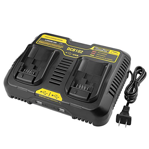 Powilling DCB102BP Replacement Charger for DEWALT DCB102BP 20-volt MAX Jobsite Charging Station