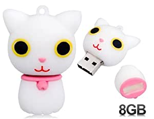 Cute Cat Design 8GB USB Flash Drive (Pink)