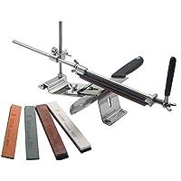 Hicollie Affilatore professionale di coltelli, manuale, ad angolo fisso, da cucina