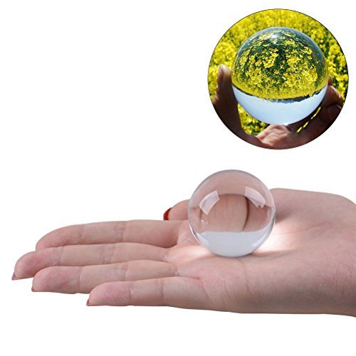 WINOMO 4cm Crystal Ball Photography Meditation Ball (Transparent -