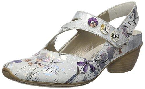 Rieker Floreale Cross-strap Heel (43771) 90 Floral Multi