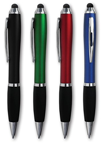 (25 assorted wholesale bulk twister pen good grip stylus for iPad iPhone Kindle Samsung Galaxy by SE ROSE 5261 (25 pack,)