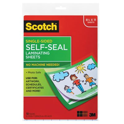 MMMLS854SS10 - Scotch Self-Sealing Laminating Sheets
