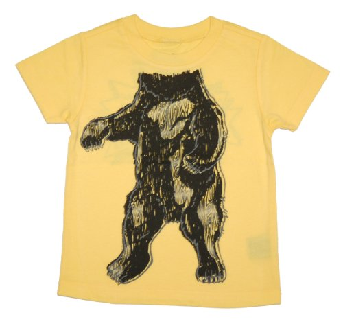 Peek-A-Zoo Toddler Become an Animal Short Sleeve T shirt - Black Bear Yellow (4T)