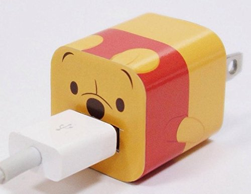 Pooh Telephone (Disney Iphone Charger USB Skin Sticker Wrap -Sticker Only Not Include Charger (Winnie the Pooh))