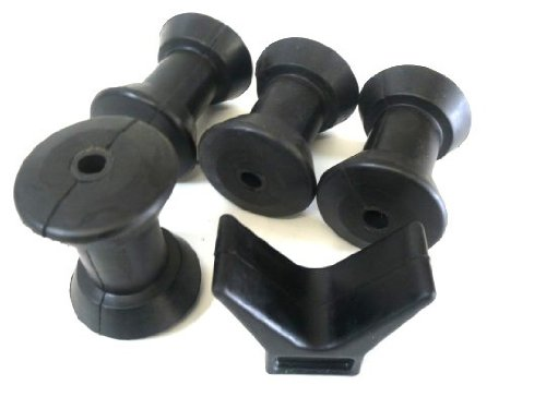 100 mm Keel Rollers - Set of 4 + 1 x Bow Buffer Marinetech