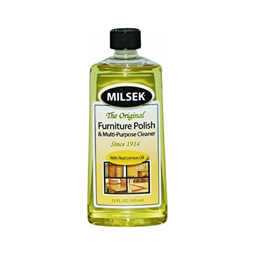 Milsek Furniture Polish and Cleaner with Lemon Oil, 12-Ounce, ()