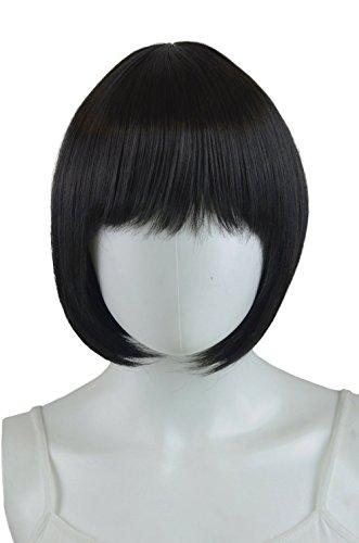 Epic Cosplay Selene Black Short Hime Bob Wig 13 Inches (04B1)