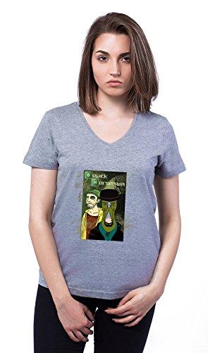 Bojack Horseman Breaking Bad Poster Theme Damen V-neck T-shirt