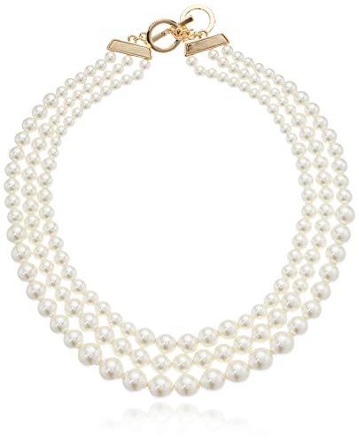 Anne Klein Women's Gold-Tone Blanc...