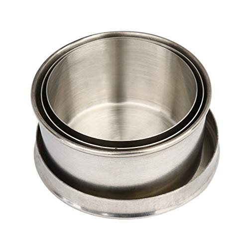 OSTELY Steel Travel Telescopic Collapsible Shot Glass Emergency Pocket Cup]()