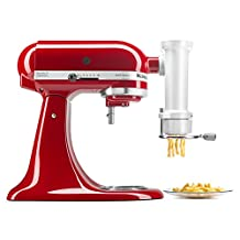 KitchenAid KSMPEXTA Gourmet Pasta Press Attachment with 6 Interchangeable Plates, White