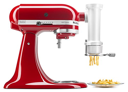 - KitchenAid KSMPEXTA Gourmet Pasta Press Attachment with 6 Interchangeable Pasta Plates, White