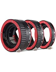 Portable Auto Focus AF Macro Extension Tube Adapter Ring (13mm +21mm +31mm) Compatible with Canon EOS EF EF-S Mount Lens Canon 60D 7D 5D II 550D