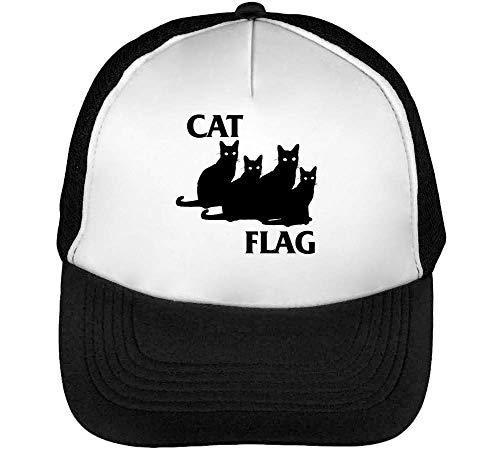 Gorras Snapback Black Beisbol Hombre Cat Negro Flag Blanco BqnnO6U
