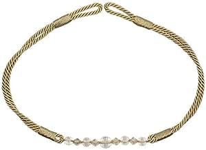 Lino BEIGE claro BEADED bucle bandas vonella DRAPE brasería cuerda 73,66 cm - 74 cm