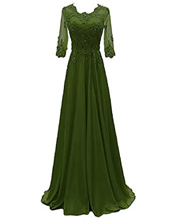 0eebfd67938ed Amazon.com  OYISHA Women s 1 2 Sleeve Lace Beaded Formal Evening ...