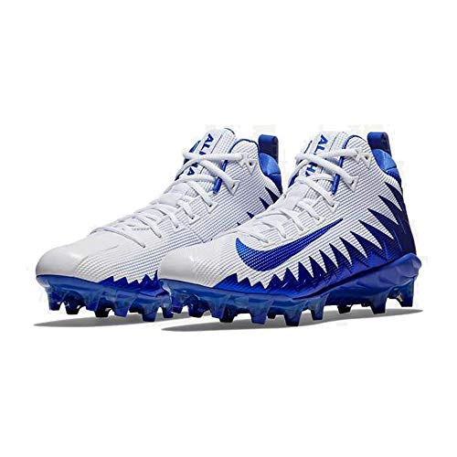 Nike Men's Alpha Menace Pro Mid Football Cleat White/Game Royal/Photo Blue Size 12 M US (All Star Game Cleats)