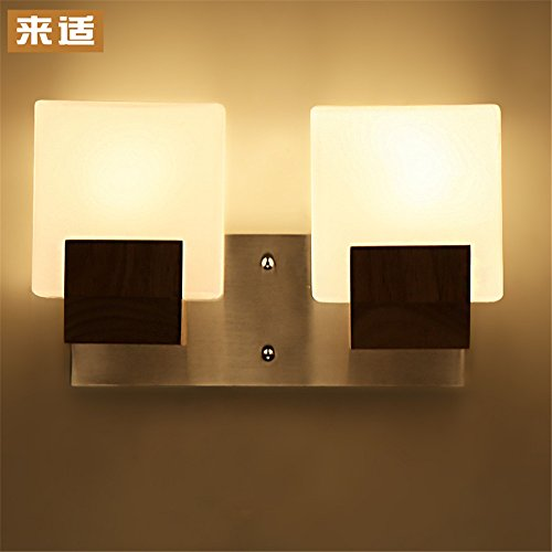 Industrial Vintage Wall Sconces Japanese Wall Lights Chinese Staircase Hyun Off The Road Wall lamp Bedroom Bedside lamp led Solid Wood logs - Stainless Steel Wood Log Basket