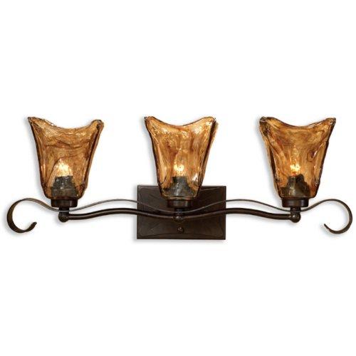 Uttermost 22801 Vetraio 3-Light Vantity Strip, Oil Rubbed Bronze (Uttermost Vetraio Accent)