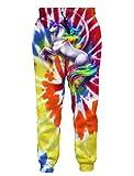 RAISEVERN Stylish Unisex Trousers Unicorn Graphic Hip Hop Cotton Polyester Joggers Trouser Unique Gym Pants