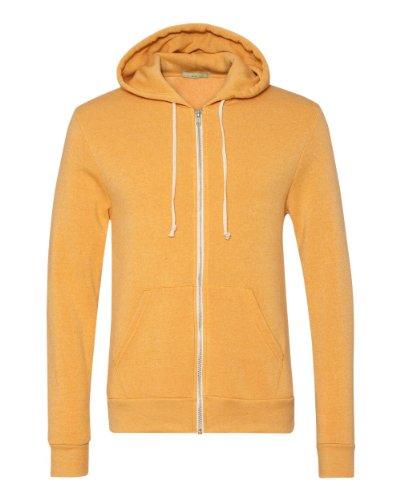 Gold Kangaroo Hoody Sweatshirt - Alternative Mens Rocky Eco-Fleece Zip Hoodie X-Small Eco True Gold