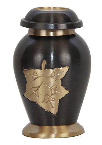 (Small Prairie Wheat Memorial Urn for Ashes with Velvet Box)