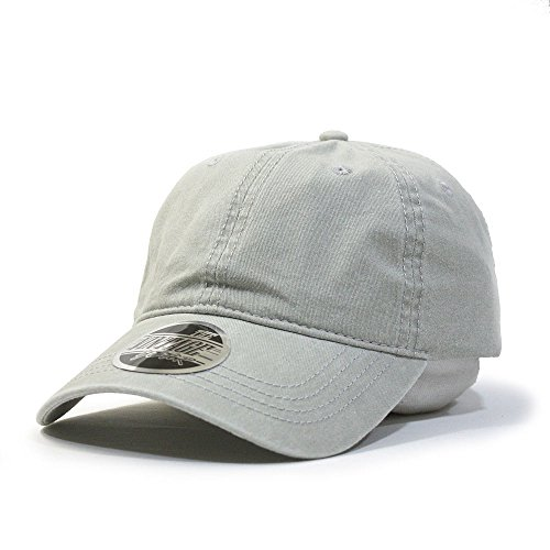 (Vintage Washed Dyed Cotton Twill Low Profile Adjustable Baseball Cap (Stone Gray B))